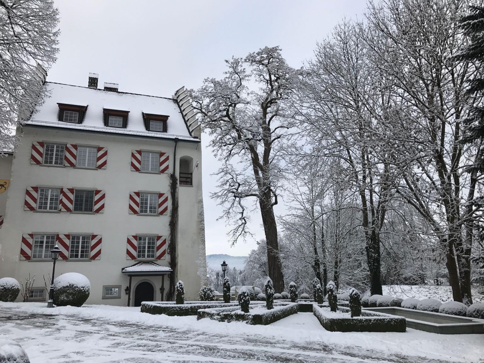 schloss schwarzenback switzerland winter