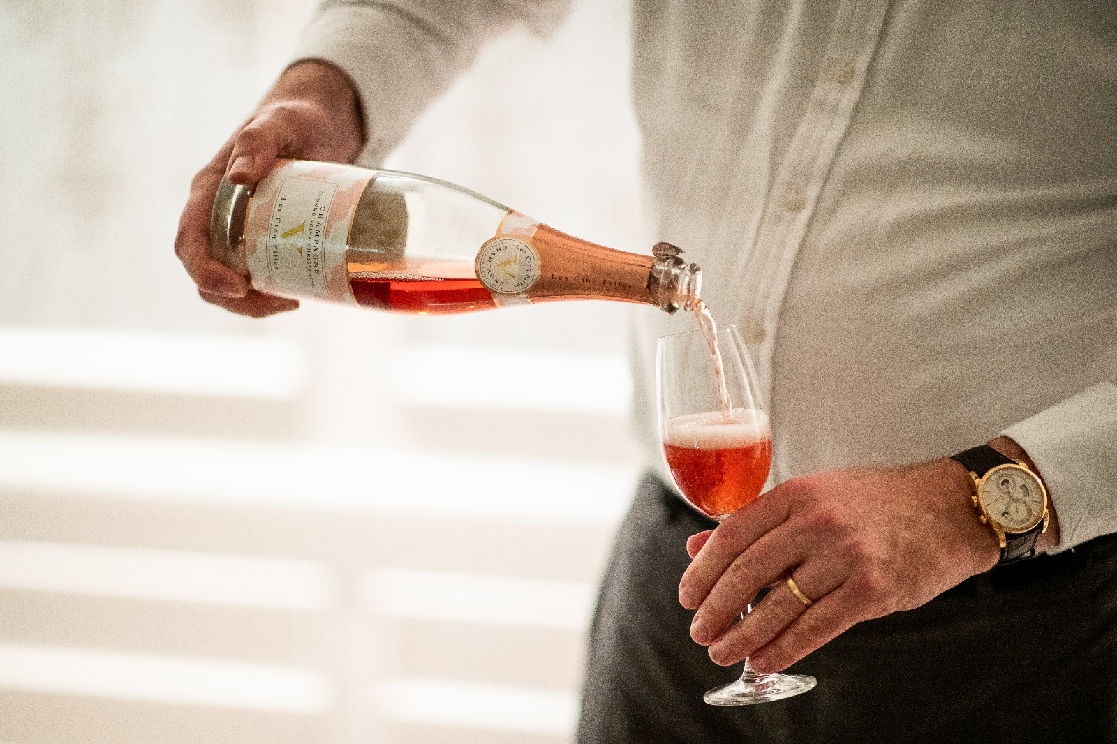Rose Champagne Les Cinq Filles Champagne , Biodynamic 3g/L